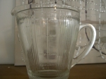 The 'Pancake Saturday' glass jug.