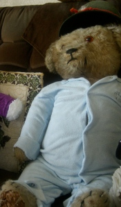 This large 1930's bear is from Sonneberg, Germany.