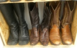 Minnie Cooper boots on the left.